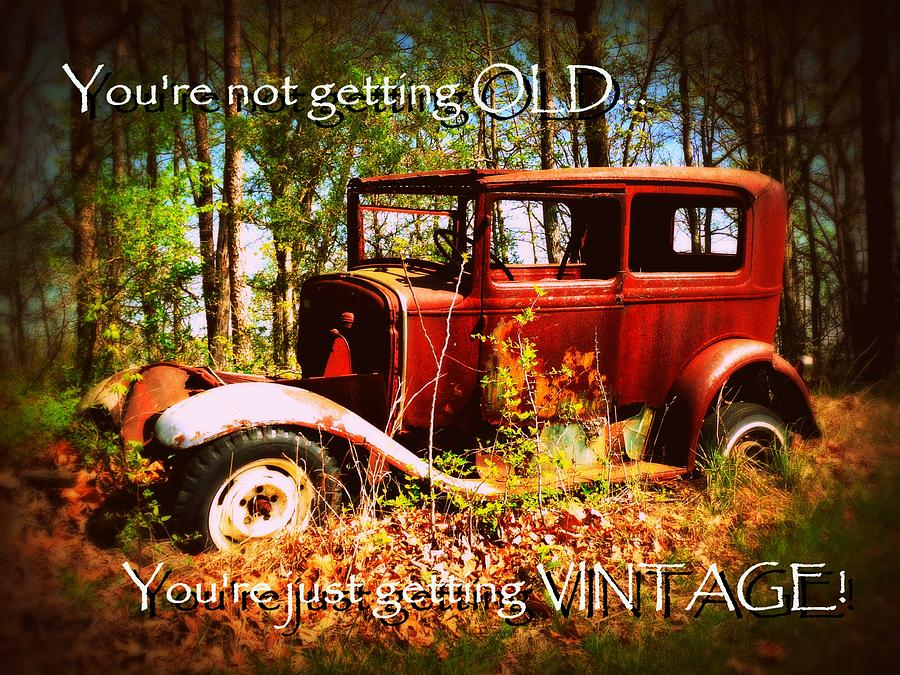 Cindy Photograph - Vintage Birthday Greeting by Cindy Wright