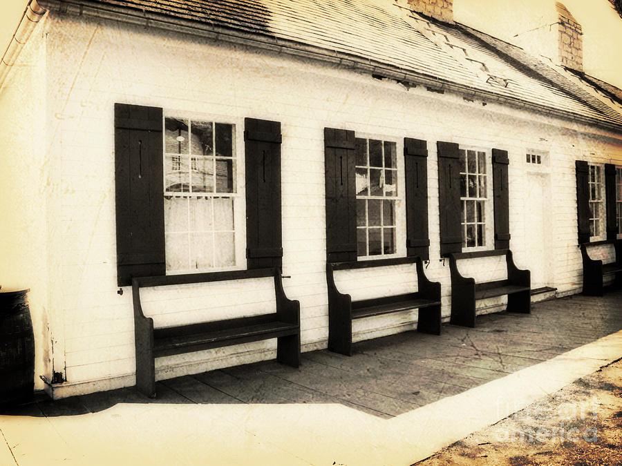 Vintage Photograph - Vintage Building 2 by Emily Kelley