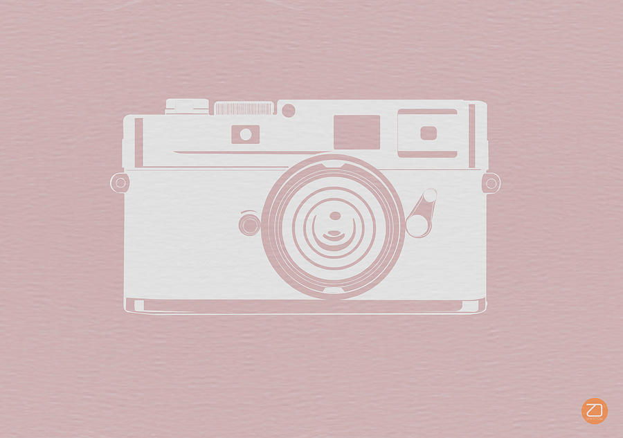 Film Digital Art - Vintage Camera Poster by Naxart Studio