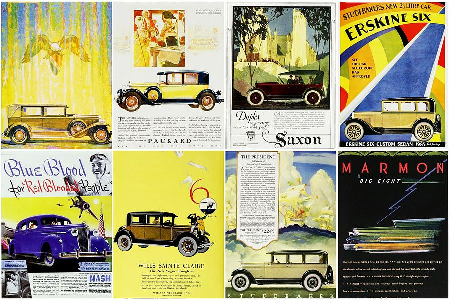 Vintage Car Ads Photograph by Don Struke