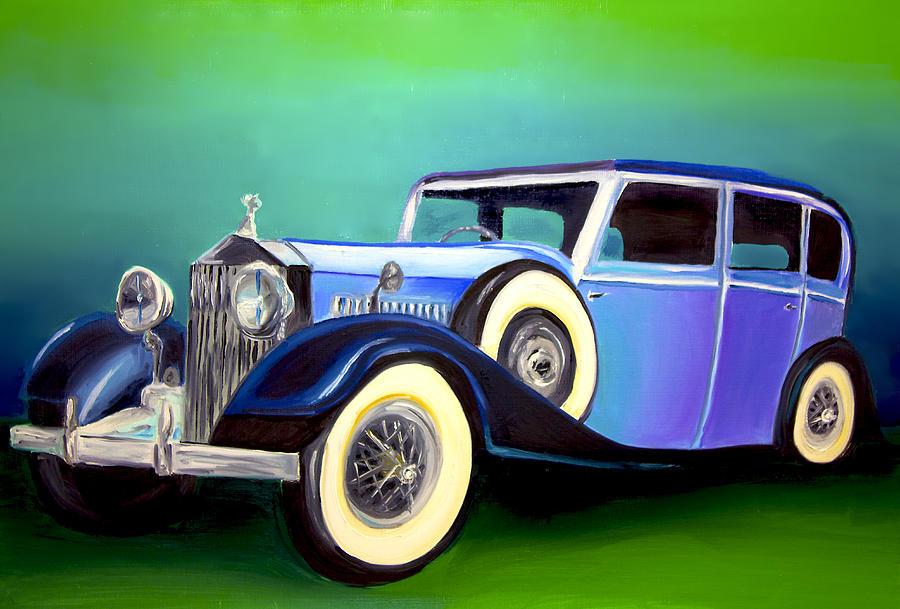 vintage car painting by brittany prichard. Black Bedroom Furniture Sets. Home Design Ideas