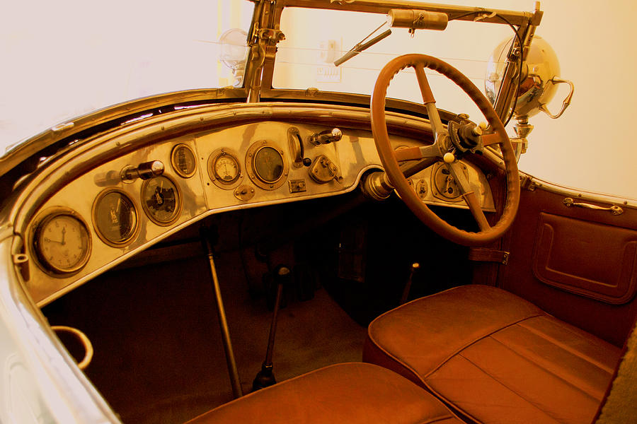 vintage car interior photograph by ankit sharma. Black Bedroom Furniture Sets. Home Design Ideas