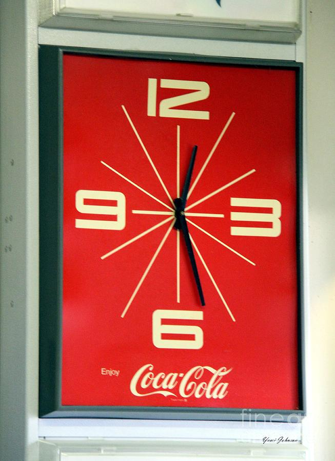 Vintage Coca Cola Clock Photograph By Yumi Johnson
