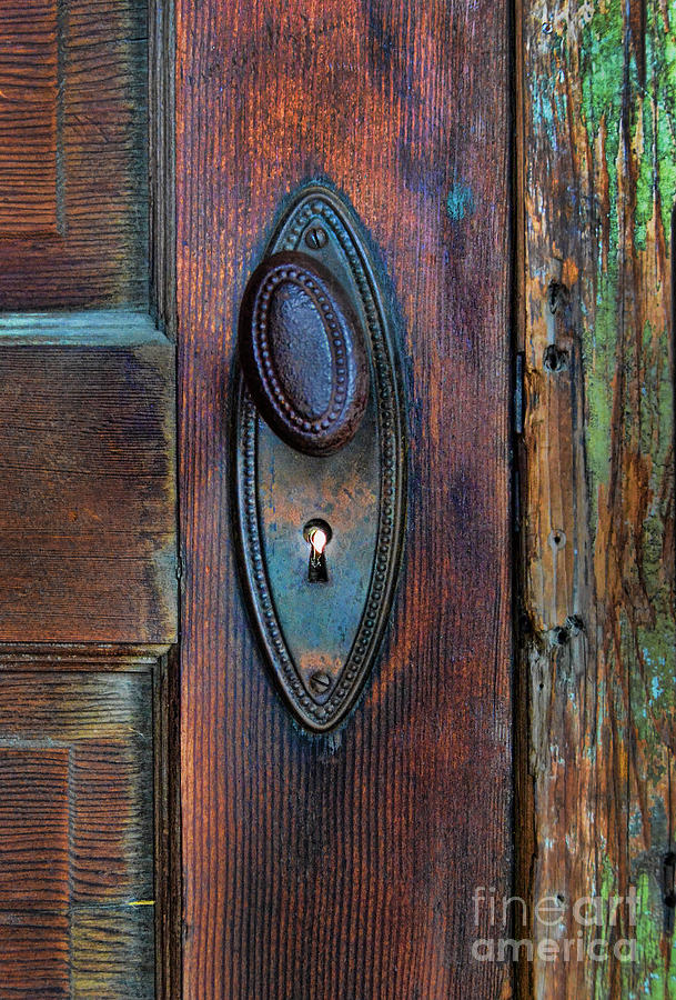vintage door knob photograph by jill battaglia