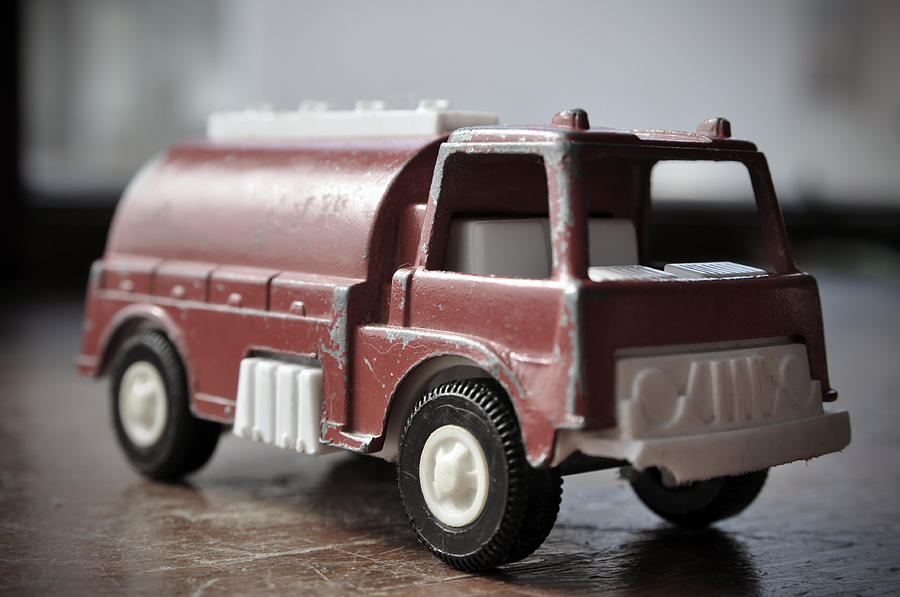 Toy Photograph - Vintage Fire Truck 2 by Kathy Schumann