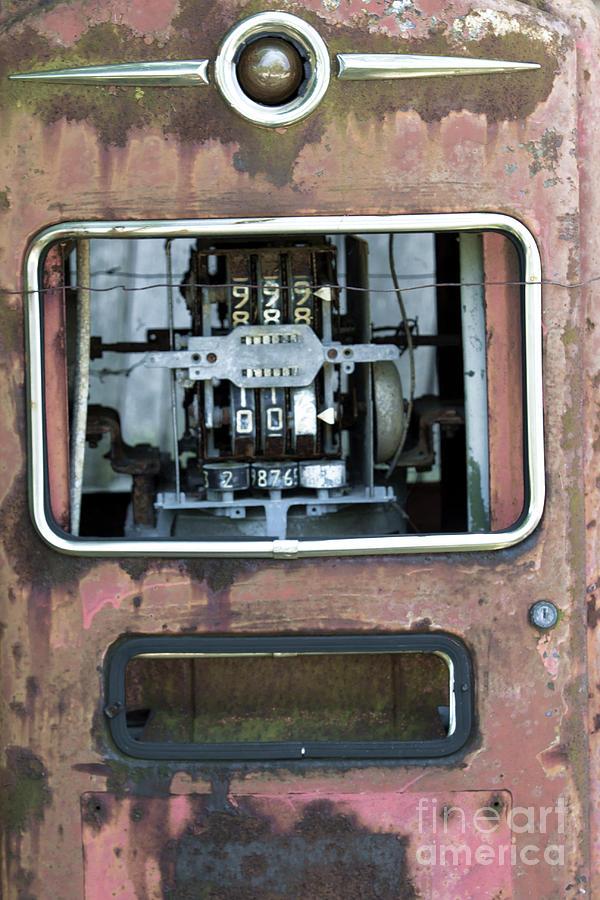 Antique Gas Pump Photograph - Vintage Gas Pump by Alan Look