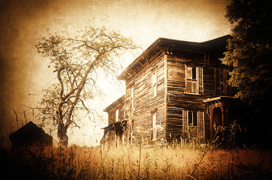 Abandoned Photograph - Vintage Gold by Emily Stauring