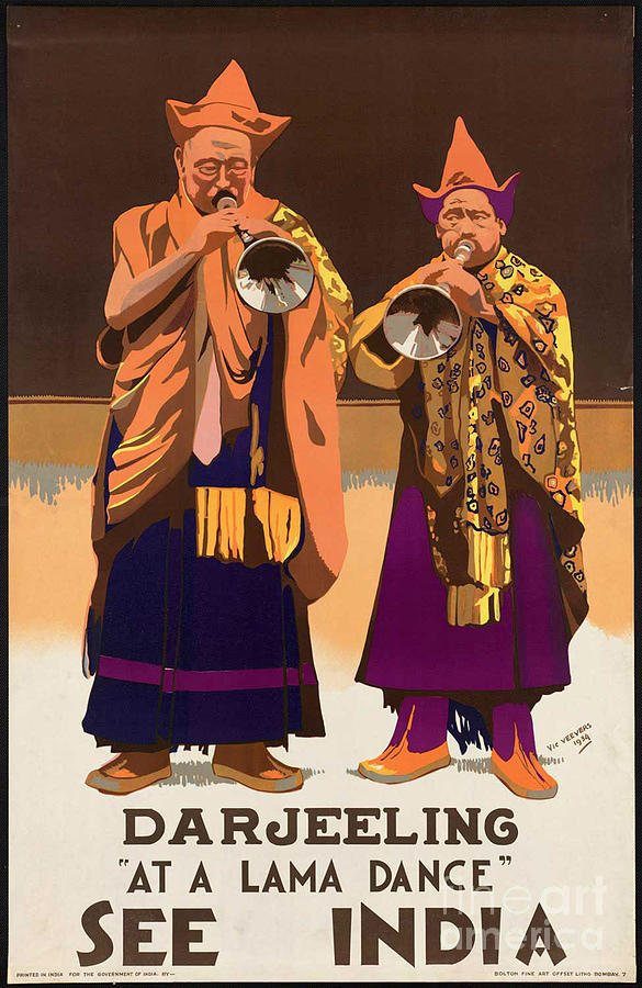 India Photograph - Vintage India Travel Poster by George Pedro