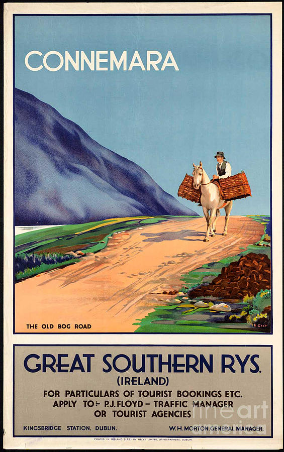 Vintage Ireland Travel Poster Photograph By George Pedro