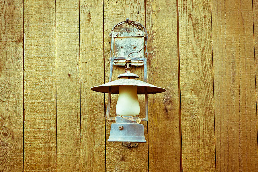 Aged Photograph - Vintage Lamp by Tom Gowanlock