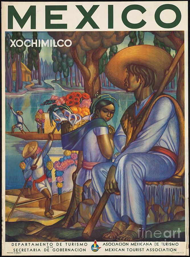 Mexico Photograph - Vintage Mexico Travel Poster by George Pedro