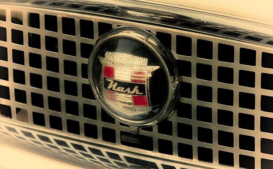 Antique Cars Photograph - Vintage Nash Auto Grill by Tony Grider