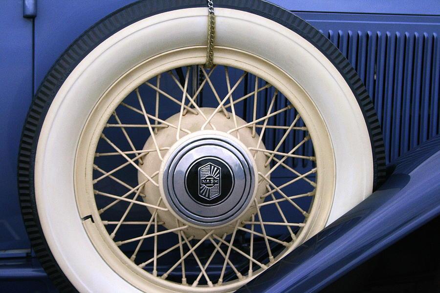 Vintage Photograph - Vintage Nash Tire by Kay Novy