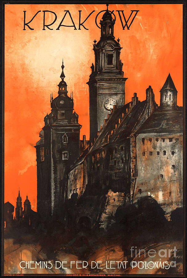 Poland Photograph - Vintage Poland Travel Poster by George Pedro