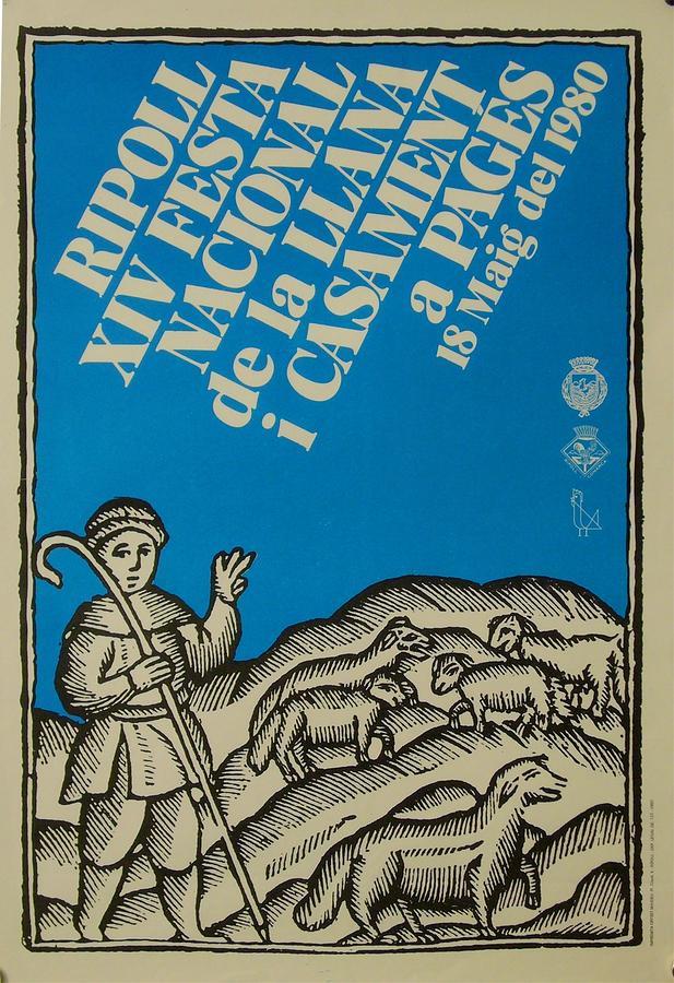Sheep Drawing - Vintage Poster Festa Nacional De La Llana  by Anonymous