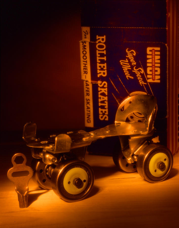 Roller Skates Photograph - Vintage Roller Skates by Jerry Taliaferro