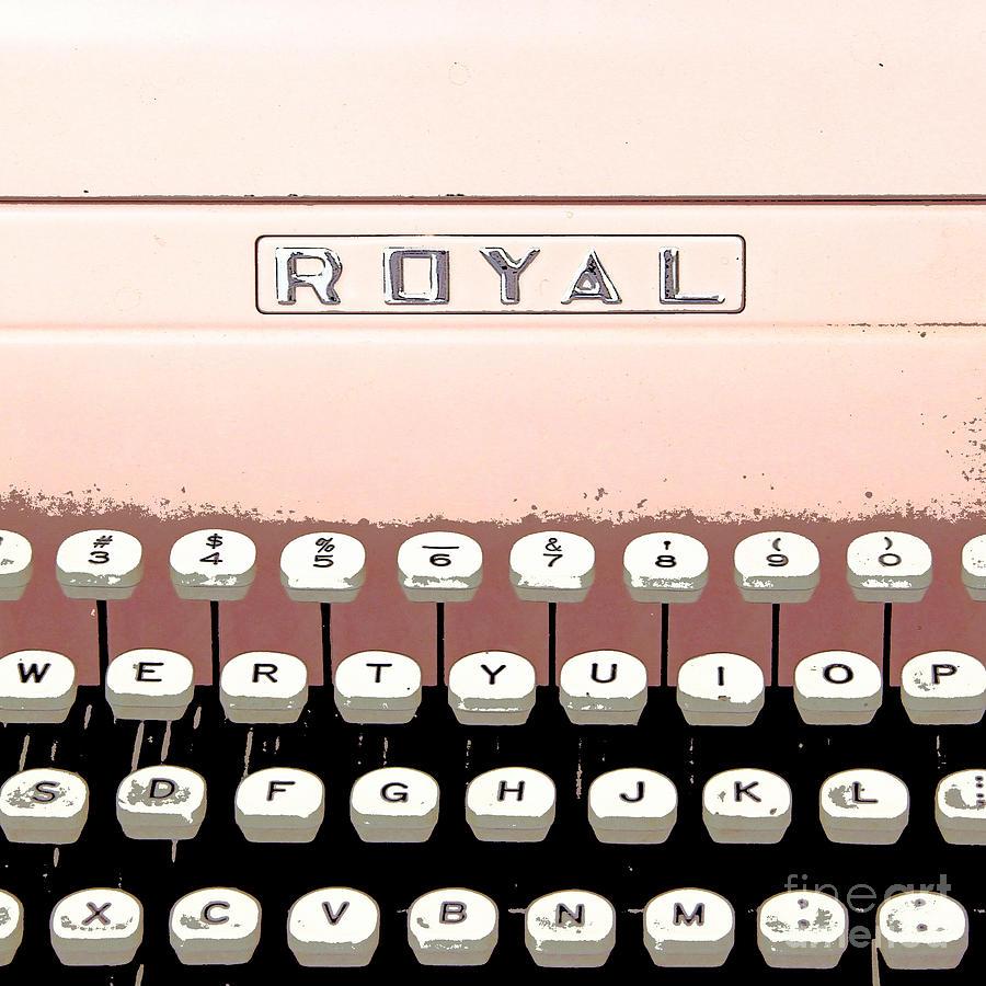Vintage Painting - Vintage Royal Typewriter by Glennis Siverson