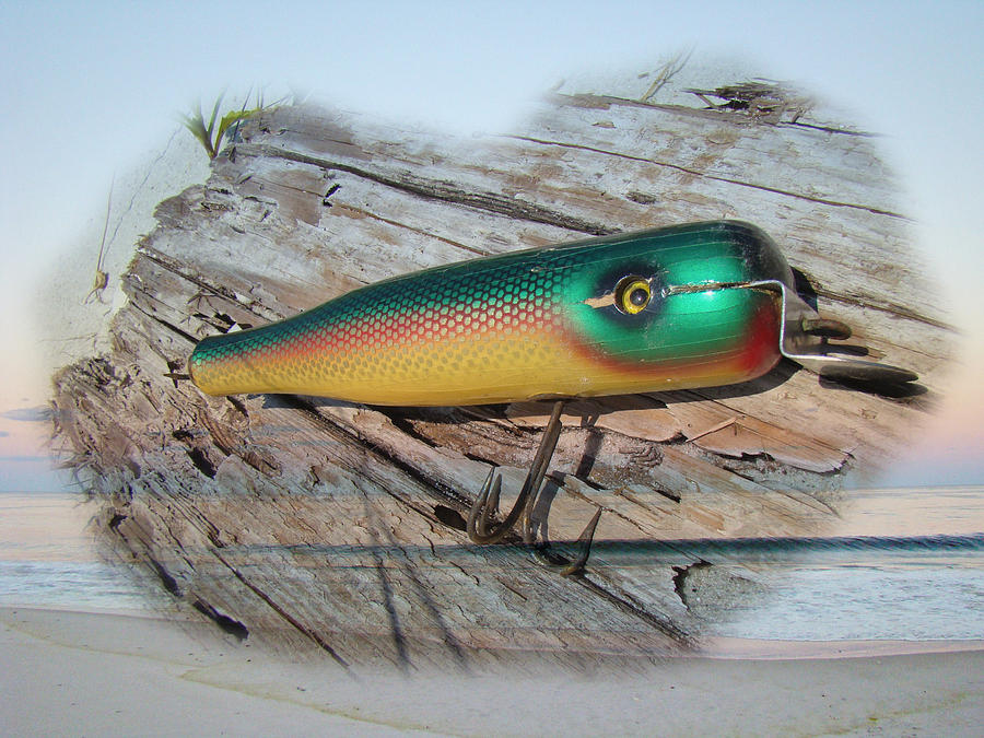 vintage saltwater fishing lure - masterlure rocket photograph by, Reel Combo