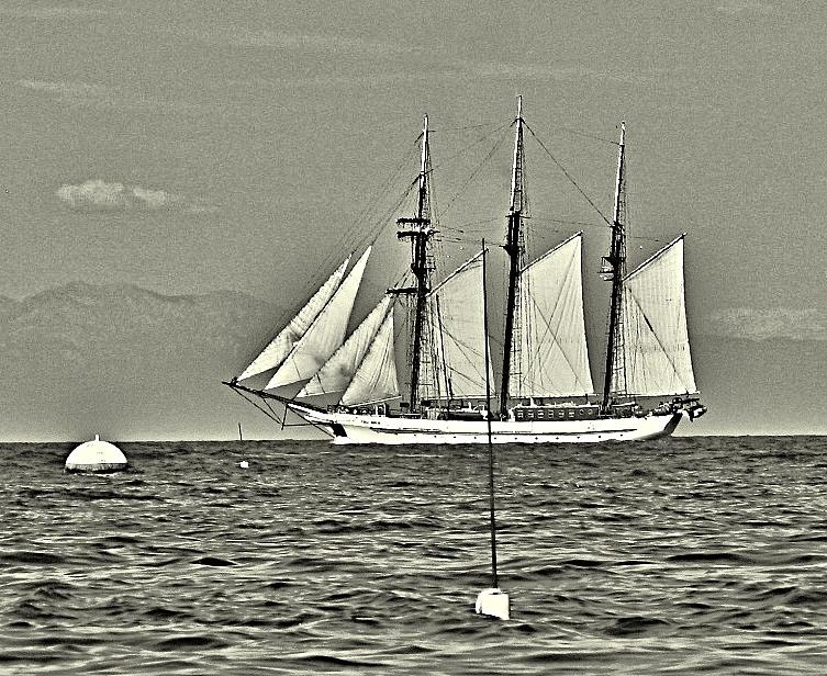 Sailing Photograph - Vintage Tall Ship by Lauren Serene