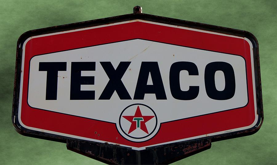 Vintage Texaco Sign Photograph By Betty Northcutt