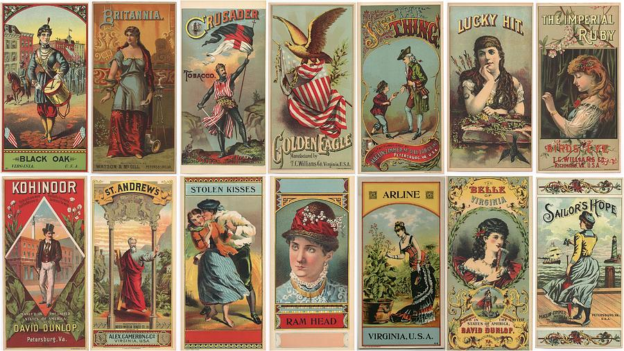 Vintage Tobacco Labels Photograph By Don Struke