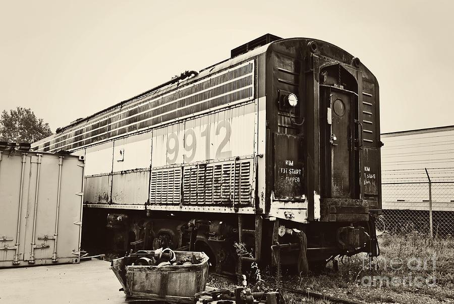 Train Photograph - Vintage Train Boxcar by Cheryl Davis