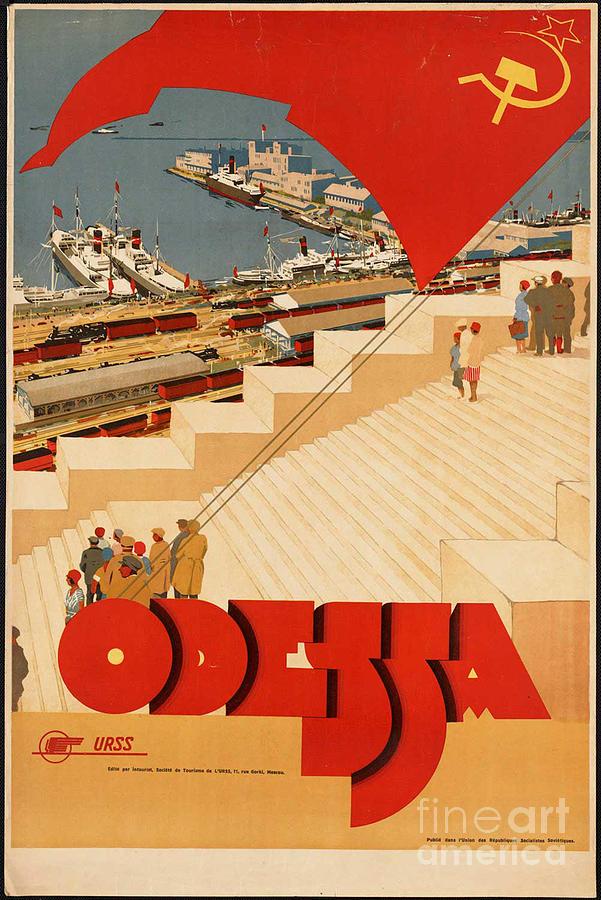 Odessa Photograph - Vintage Ukraine Travel Poster by George Pedro