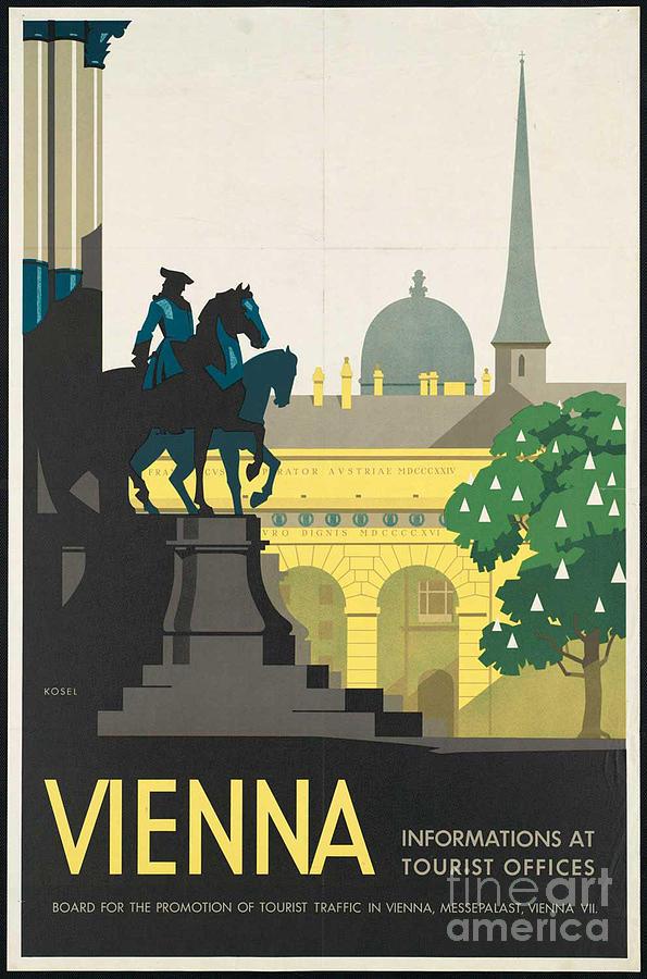 Vienna Photograph - Vintage Vienna Travel Poster by George Pedro