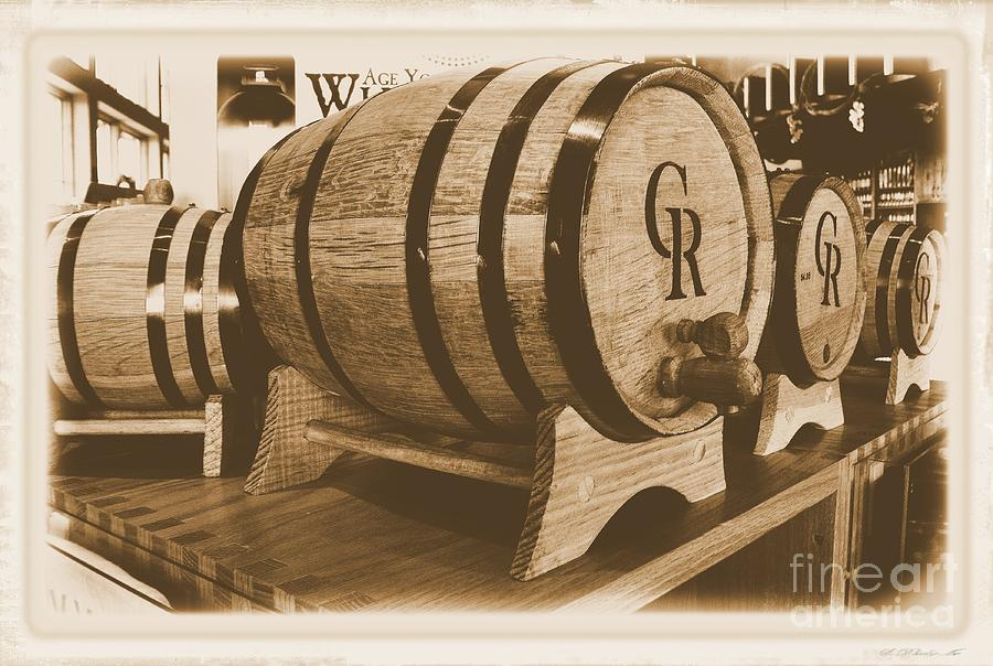 Photo Photograph - Vintage Winery Photo by Marsha Heiken