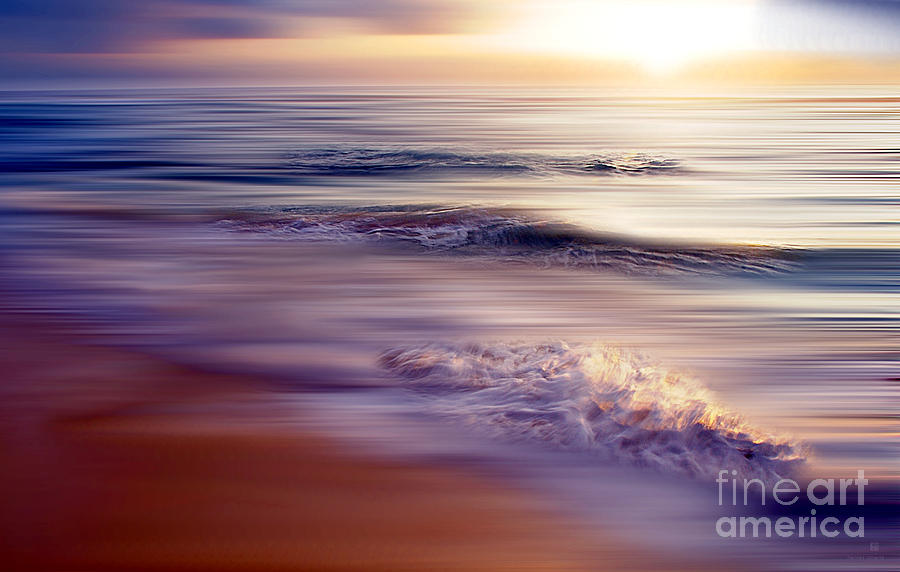 Sea Photograph - Violet Dream by Hannes Cmarits