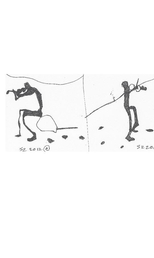 Violins Drawing - Violin by Samuel Zylstra