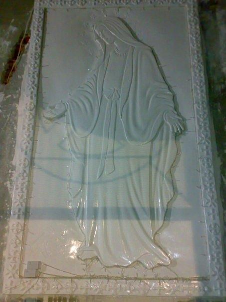 Ismailia Relief - Virgin Mary by Bahgat Fayek