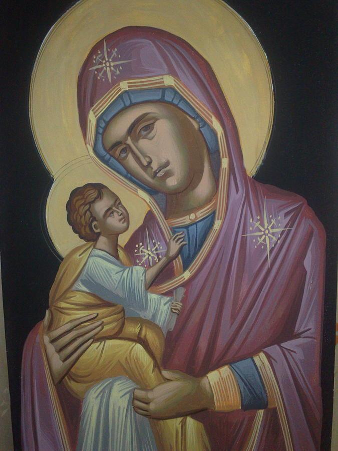 Traditional Painting - Virgin Mary by Dimitri Kartsaklis
