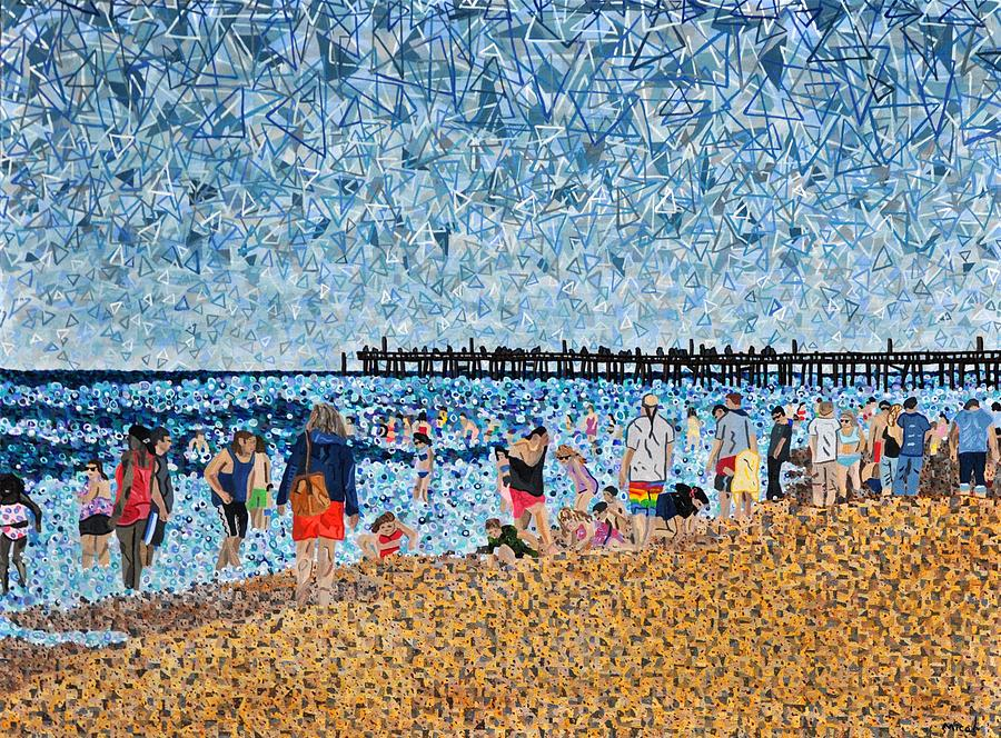 Virginia Beach Painting - Virginia Beach In June by Micah Mullen
