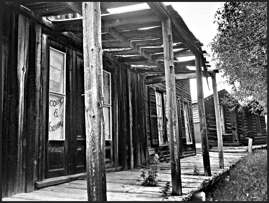 Ghost Town Photograph - Virginia City Brewery Area by Susan Kinney
