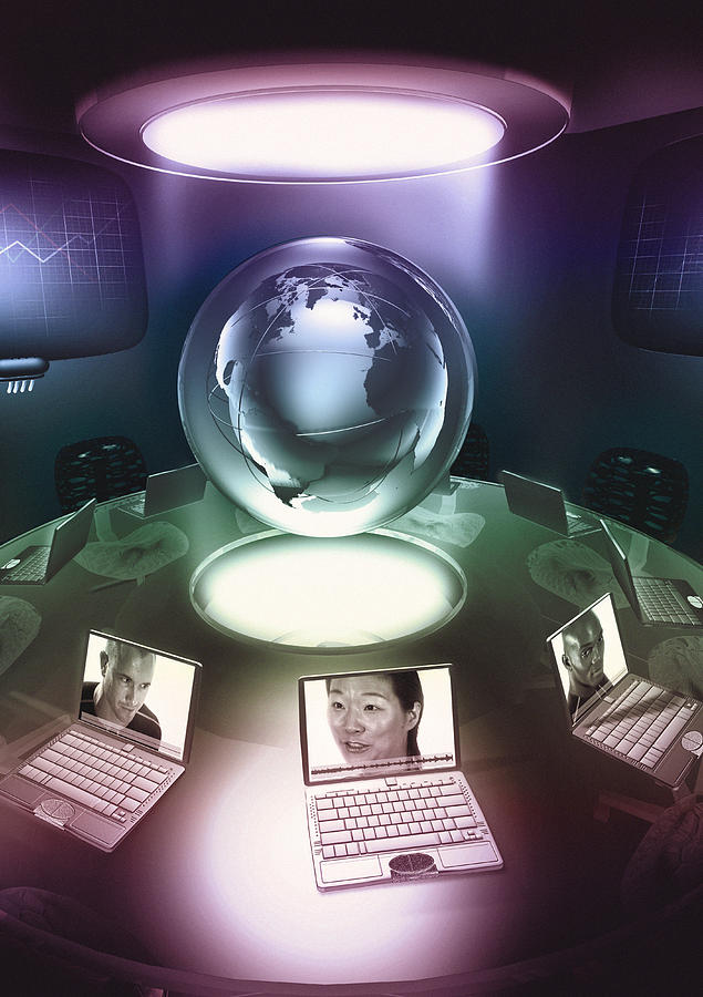 Laptop Photograph - Virtual Office by Coneyl Jay
