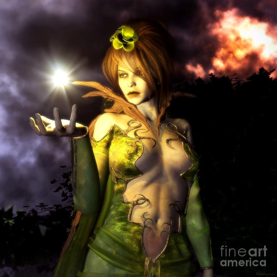 Fairy Digital Art - Vision by Gabor Gabriel Magyar - Forgottenangel
