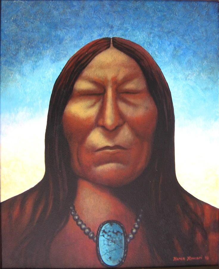 Native American Painting - Vision by Karen Roncari