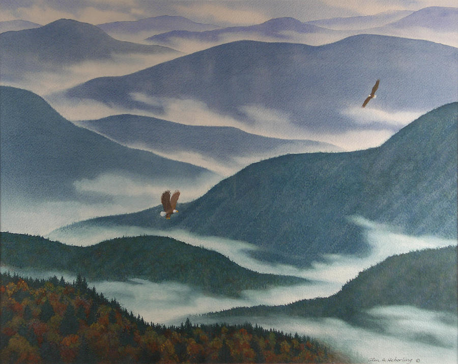 Mountains Painting - Vision Of The Great Smokies by Glen Heberling