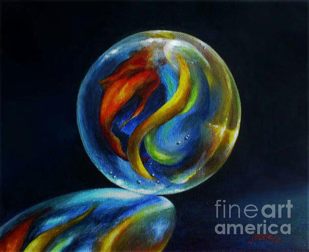 Marbles Painting - Visions Of Paradise by Jackie Ohlsen