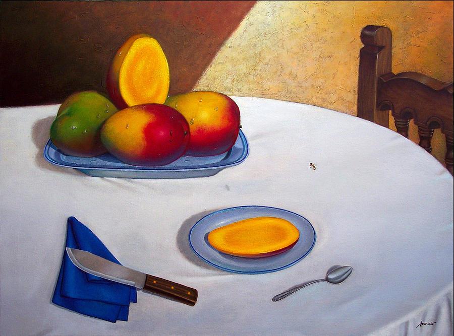 Visita Inesperada. Unexpected Visitor Painting by Ezequiel Ramos APARICIO
