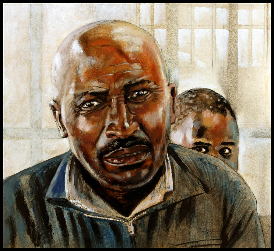 Black Man Painting - Visitor by John Lautermilch