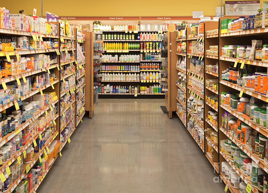 Aisle Photograph - Vitamin and Supplement Aisle by David Buffington