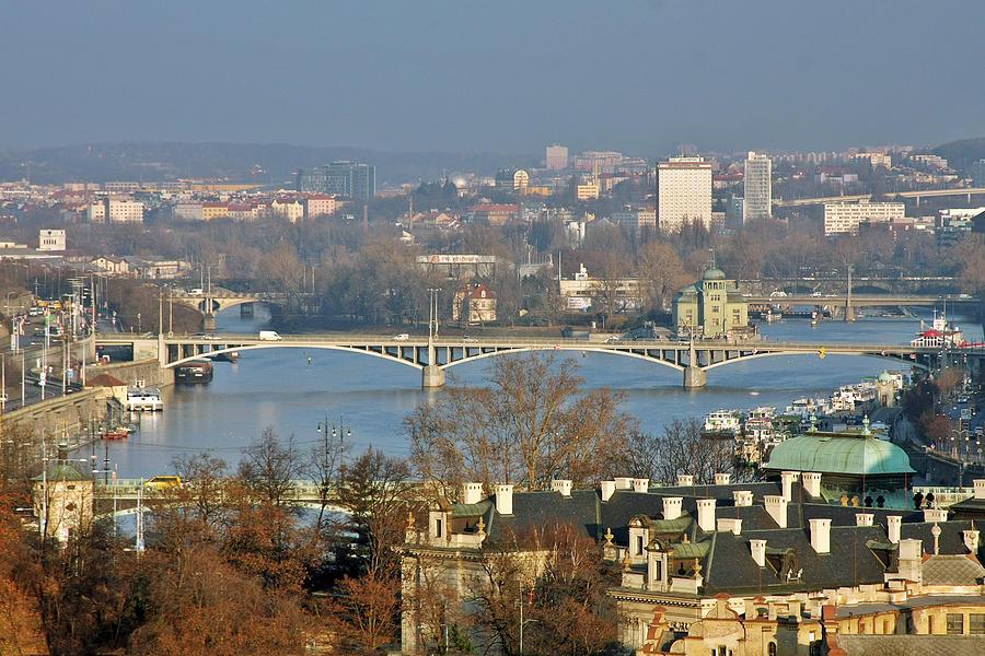 Vltava Photograph - Vltava River In Prague - Tricky Laziness by Christine Till