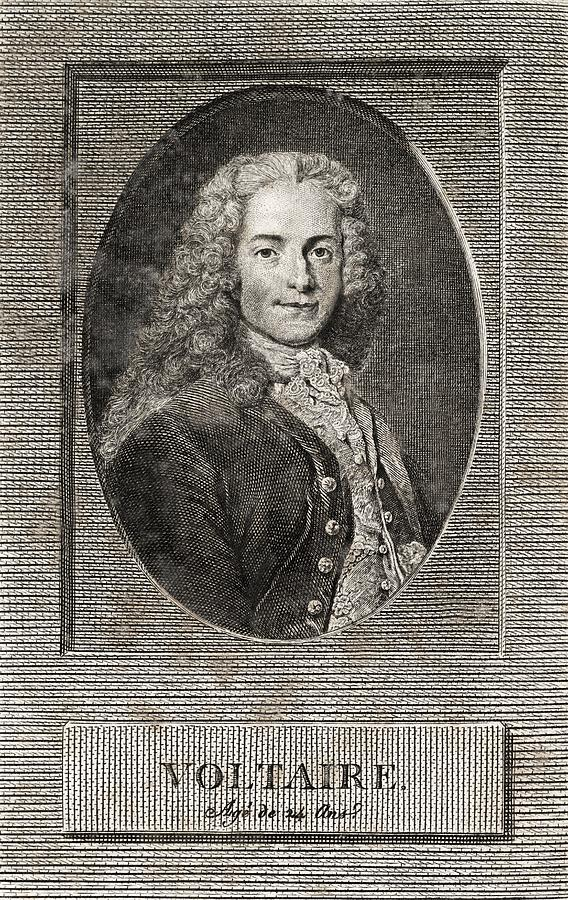 Voltaire Photograph - Voltaire, French Author by Middle Temple Library