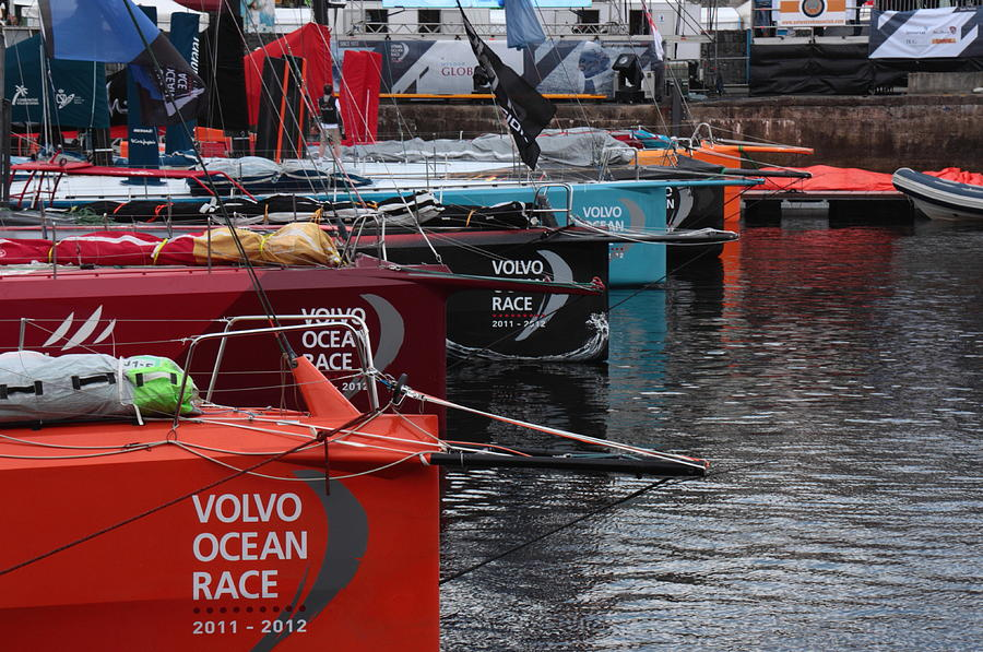 Volvo Ocean Race 2011-2012 Photograph by Peter Skelton
