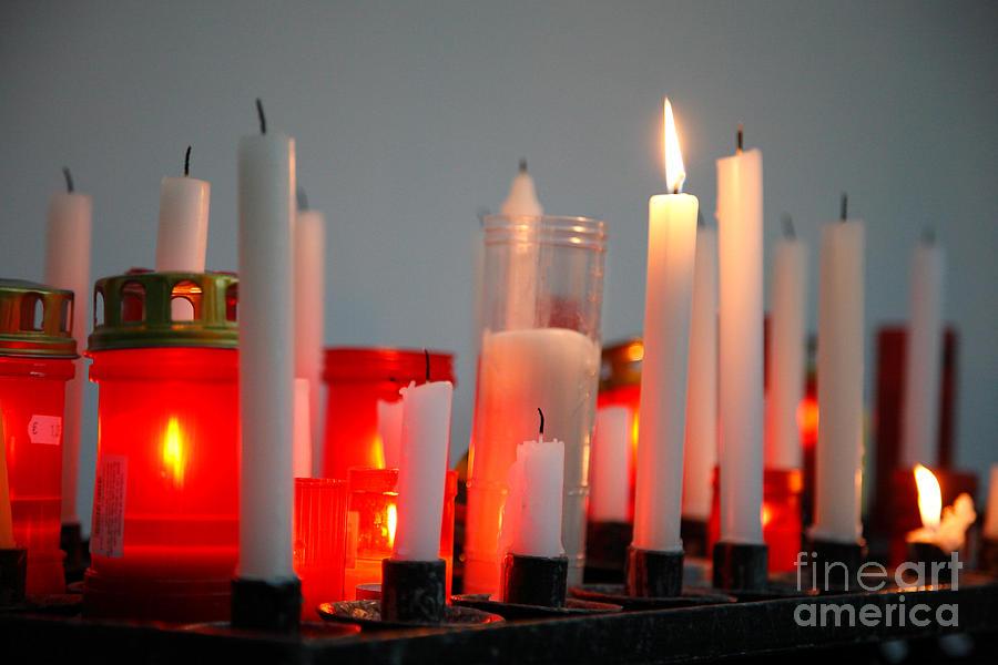 Candles Photograph - Votive Candles by Gaspar Avila