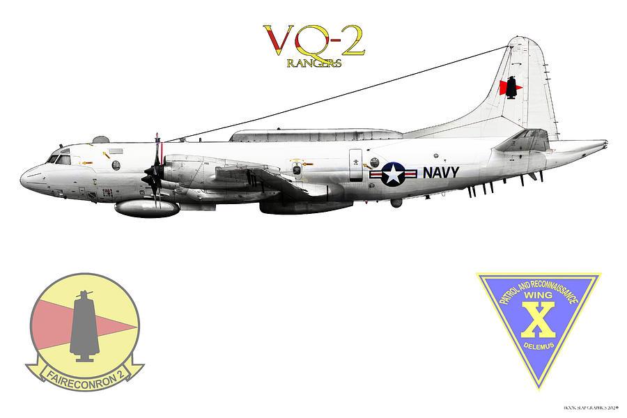 Navy Digital Art - Vq-2 Rangers by Clay Greunke