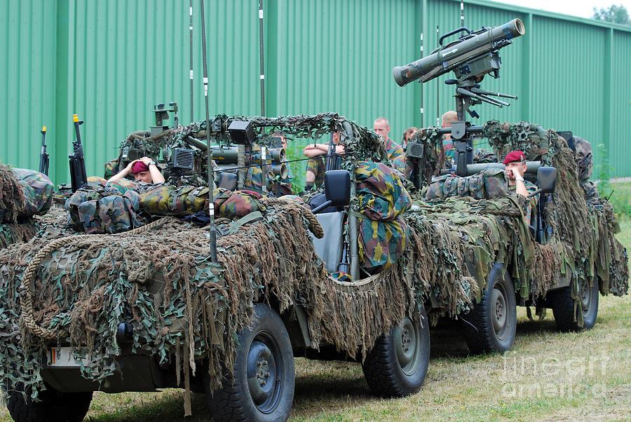 Recce Photograph - Vw Iltis Jeeps Of A Recce Scout Unit by Luc De Jaeger