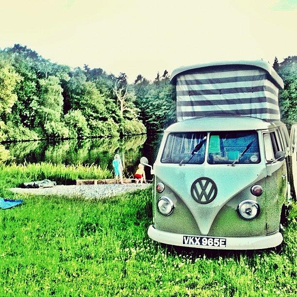 Vw Camper Photograph - #VW thats Camping by Doc Ward